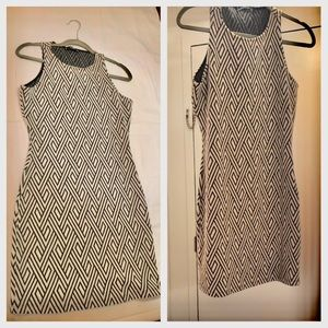 Mango black / white dress